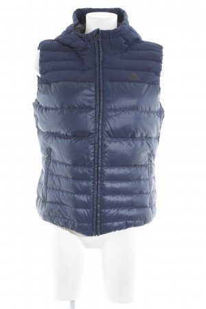 Adidas Quilted Gilet dark blue quilting pattern casual look