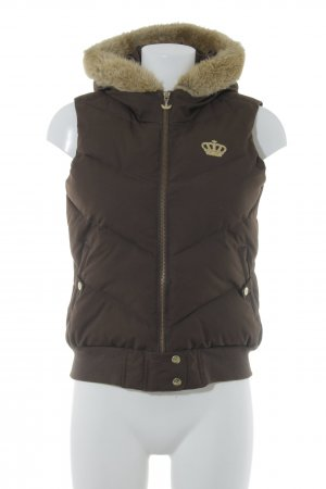 Adidas Quilted Gilet dark brown-oatmeal casual look