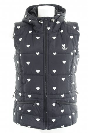 Adidas Quilted Gilet black-white Herzmuster athletic style