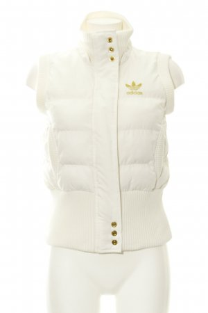 Adidas Quilted Gilet natural white-gold-colored street-fashion look