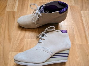 Adidas NEO Botas de cuña beige claro-gris claro Cuero