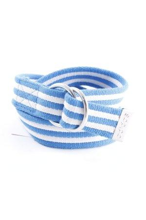 Adidas Stoffen riem wit-neon blauw gestreept patroon casual uitstraling