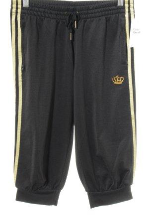 Adidas Stoffhose schwarz-goldfarben sportlicher Stil