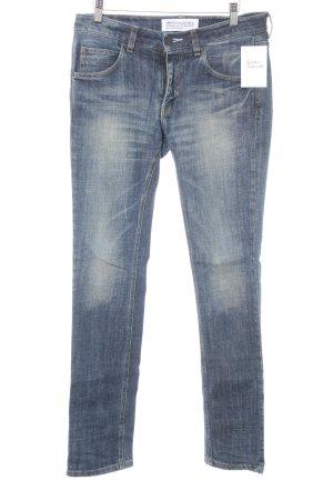 Adidas Straight-Leg Jeans blau-blassblau schlichter Stil