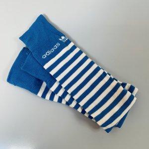 Adidas Stulpen Socken in blau-weiß NEU XS/S/M