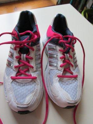 Adidas Basket à lacet blanc-rouge fluo