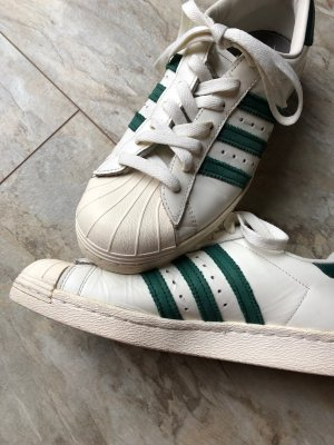 Adidas Superstar 80's DLX (Weiß/Grün) Gr. 39 1/3