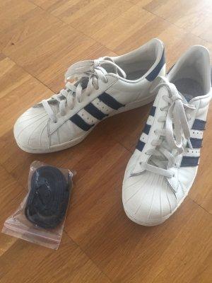 Adidas Superstar 80's, offwhite dark blue, Gr.40