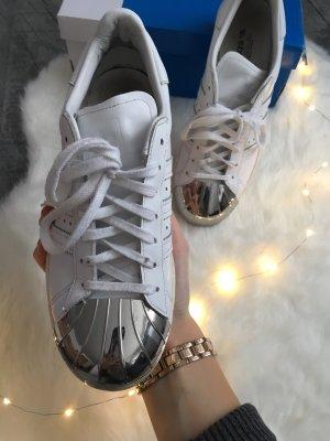 Adidas superstar 80's Style metal toe metallkappen weiß silber 38 38,5 38 2/3