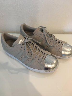 Adidas Superstar 80s Metal Toe sneaker Turnschuhe neu 38 Silber beige Metall