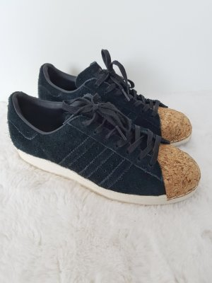 ADIDAS Superstar 80s, Sneaker, schwarz, Wildleder/Kork, Gr.38