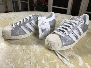 Adidas Superstar 80s W Silber Reptil