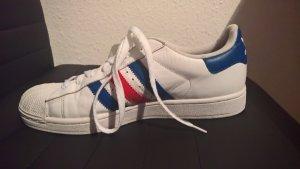 Adidas Superstar blau rot