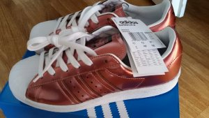 Adidas Zapatilla brogue color rosa dorado