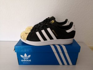 Adidas Superstar Gr. 37,5 NEU! metal toe gold schwarz