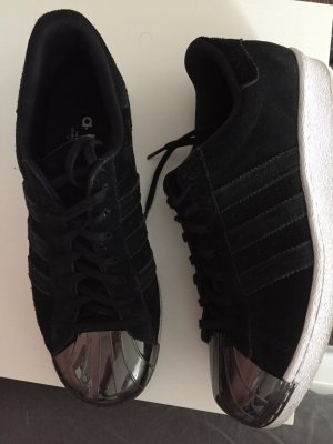 Adidas Superstar Metal Toe schwarz Wildleder