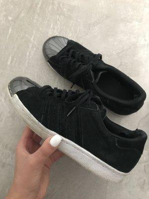 Adidas superstar metal toe suede in schwarz größe 38 2/3
