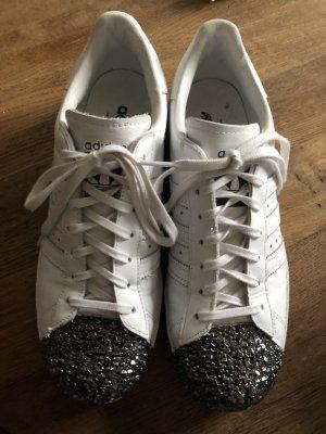 Adidas Superstar mit Glitzerspitze Größe 41