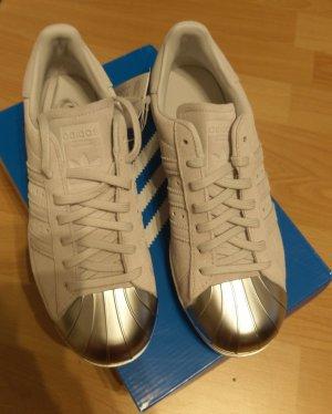 adidas superstar neu metal toe leder weiß silber sneaker gr. 39,5
