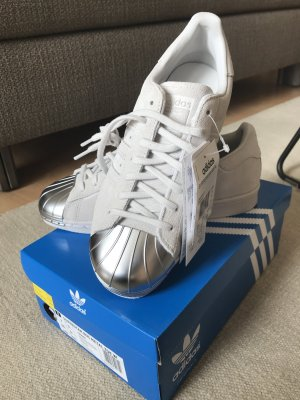 Adidas Superstar Originals 80s Metal Toe Wildleder Silber/grau
