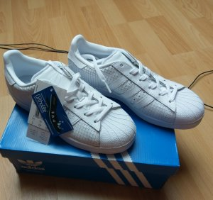 adidas superstar originals gr. 37,5 weiß all white leder