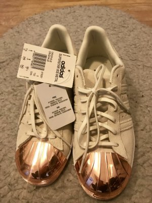 Adidas Superstar Rose Gold Metal Toe Shoes