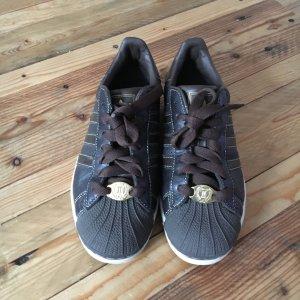 Adidas Superstar Sneaker; braun/gold; Größe 36 2/3; Leder; wie neu