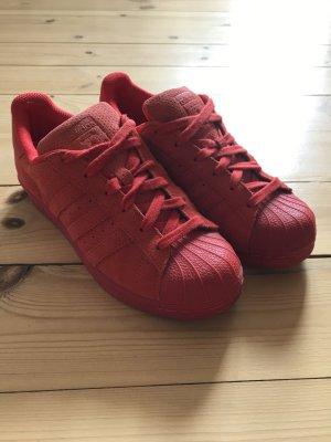 Adidas Superstar Sneaker Rote Schuhe Blogger Sportschuhe