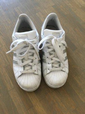 Adidas Superstar weiß/Silber Gr. 36 2/3