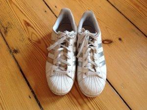 adidas Superstar weiß/silber Gr. 39 1/3