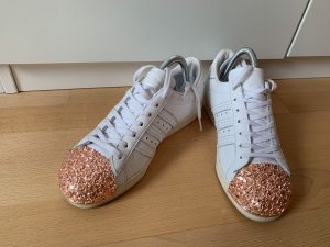 Adidas Lace-Up Sneaker white-rose-gold-coloured leather