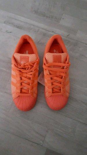 Adidas Superstars korallenrot Neu mit Etikett Größe 38
