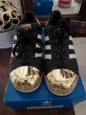 Adidas Superstars Metal Toe Gold Trainer Low
