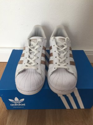 Adidas Superstars rosé weiß Gr. 38 2/3