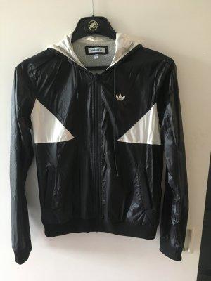 Adidas Veste sweat blanc-noir
