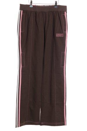 Adidas Sweat Pants brown-pink casual look