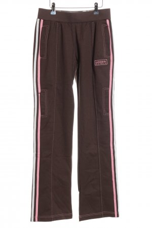 Adidas Sweat Pants brown-pink themed print casual look