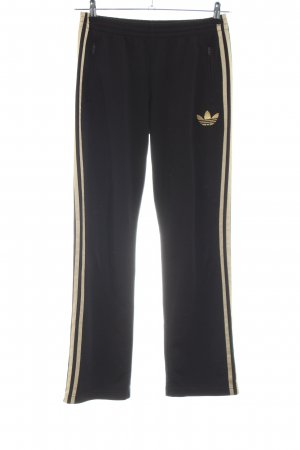 Adidas Sweat Pants black-gold-colored casual look