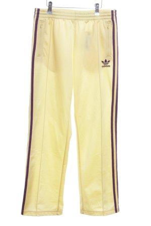 Adidas Pantalone fitness giallo pallido-nero stile atletico