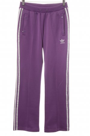 Adidas Sweat Pants lilac striped pattern casual look