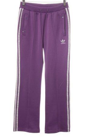 Adidas Pantalone fitness lilla motivo a righe stile casual