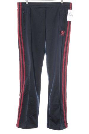 Adidas Joggingbroek rood-donkerblauw casual uitstraling