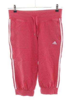 Adidas Pantalone fitness rosso motivo a righe stile casual