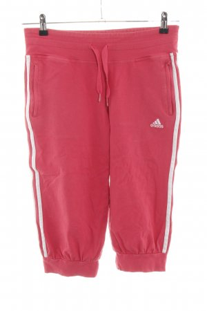 Adidas Sweat Pants red-white striped pattern casual look