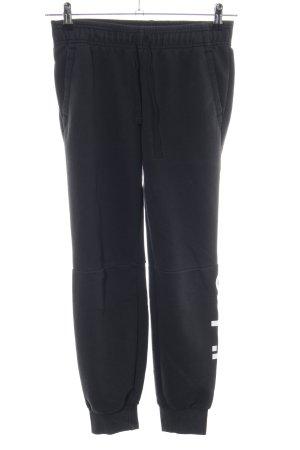 Adidas Pantalone fitness nero-bianco stile atletico