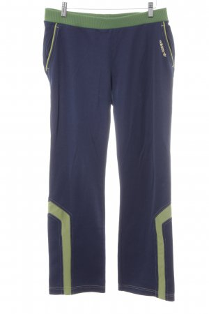 Adidas Sweathose stahlblau-waldgrün sportlicher Stil