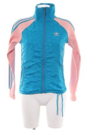 Adidas Sweatjacke blau-pink sportlicher Stil