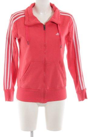 Adidas Sweatjacke rot Streifenmuster Casual-Look