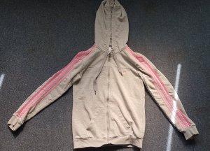Adidas Veste sweat gris clair-rose