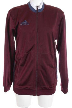 Adidas Sweat Jacket bordeaux-steel blue athletic style